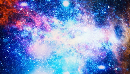 Stars of a planet and galaxy in a free space. Elements of this image. Stockfoto