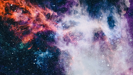 Planets, stars and galaxies in outer space. Stock Photo