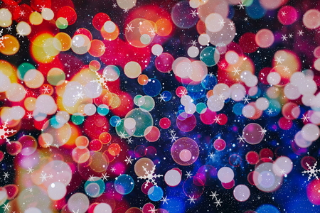 Christmas Background.Holiday Abstract Glitter .Magic Background
