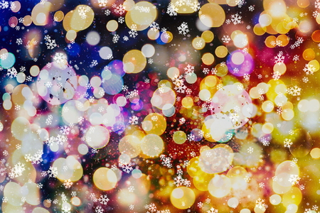 Festive Christmas background. Elegant abstract background with lights and stars Stock fotó - 91799448