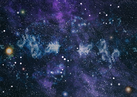 Colorful Starry Night Sky Outer Space background 写真素材