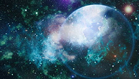 Fondo de campo de estrella de alta definición. Textura de fondo del espacio exterior estrellado. Colorido Starry Night Sky El espacio ultraterrestre Antecedentes Foto de archivo