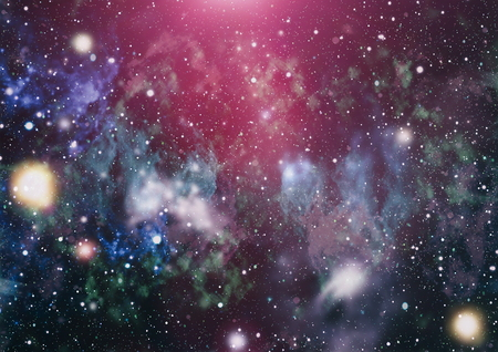 Panoramic looking into deep space. Dark night sky full of stars. The nebula in outer space. Stock Photo - 93793327