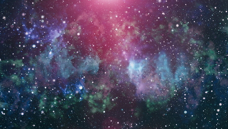 Panoramic looking into deep space. Dark night sky full of stars. The nebula in outer space. Stock Photo - 93793366