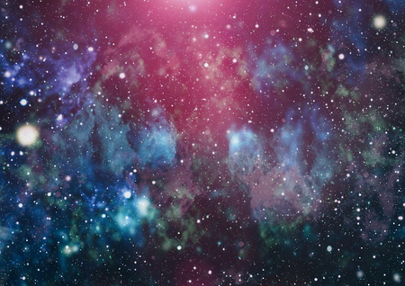 Panoramic looking into deep space. Dark night sky full of stars. The nebula in outer space. Stock Photo - 93793373