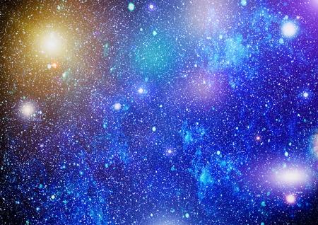 Blue dark night sky with many stars. Milky way on the space background Stock Photo