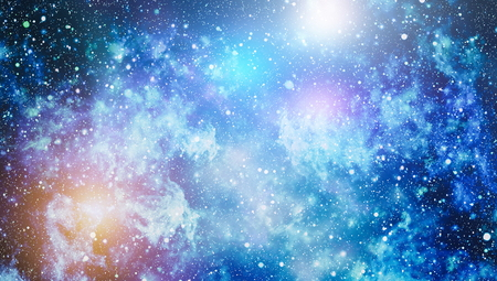 Fondo colorido del espacio exterior del cielo nocturno estrellado Foto de archivo - 93920839