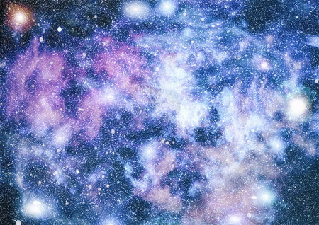 Colorful Starry Night Sky Outer Space background Stock Photo