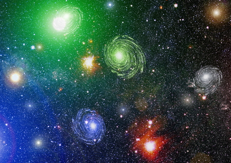 Spiral galaxy in deep space. Stock Photo