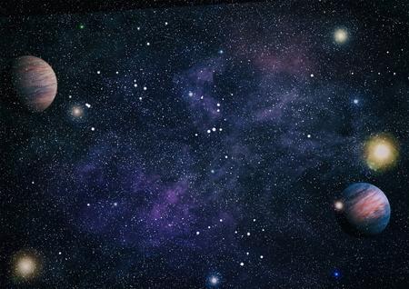 Spiral galaxy in deep space. Stok Fotoğraf
