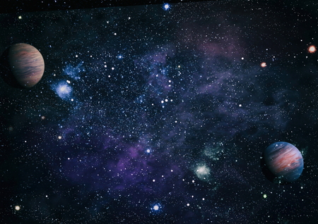 planets, stars and galaxies in outer space.