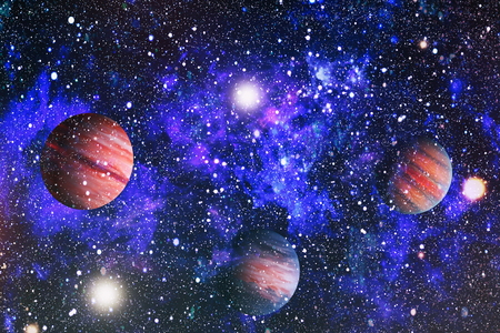 Colorful deep space. Universe concept background. Stock Photo
