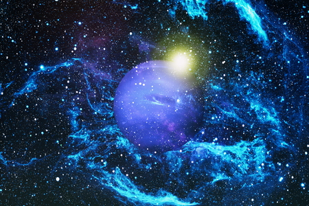 The explosion supernova. Bright Star Nebula. Distant galaxy. Abstract image. Stock Photo