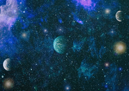 Futuristic abstract space background. Night sky with stars and nebula. Stock Photo - 108713118