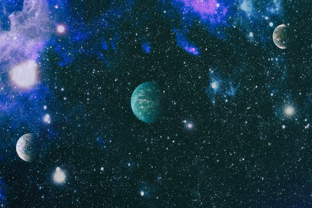 Futuristic abstract space background. Night sky with stars and nebula. Stock Photo - 108713119