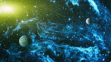 Futuristic abstract space background. Night sky with stars and nebula. Stock Photo - 108713208