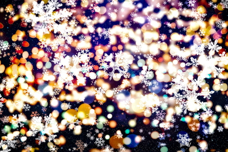 Festive Christmas background. Elegant abstract background with lights and stars