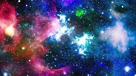 abstract space background. Night sky with stars and nebula. Imagens - 110137778