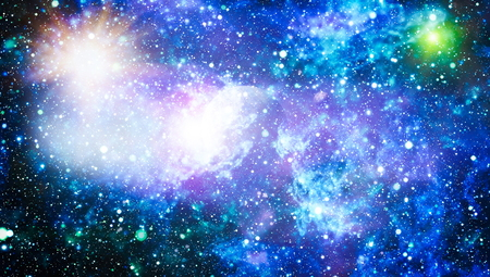 abstract space background. Night sky with stars and nebula.