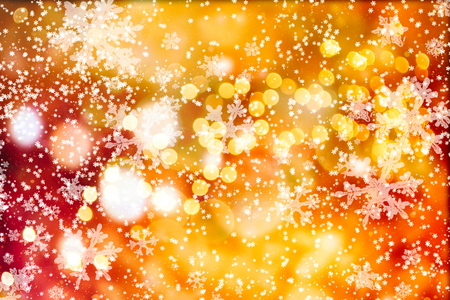 Glittering shine bulbs lights background: Blur of Christmas wallpaper decorations concept. Holiday festival backdrop: Sparkle circle lit celebrations display.