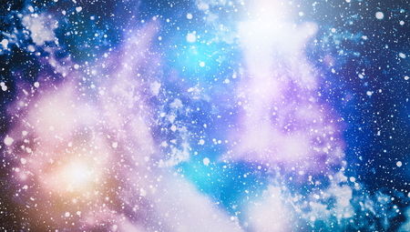 Abstraction space background for design. Mystical light .Colorful Starry Night Sky Outer Space background