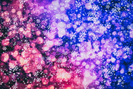 Christmas light background. Holiday glowing backdrop. Defocused Background With Blinking Stars.