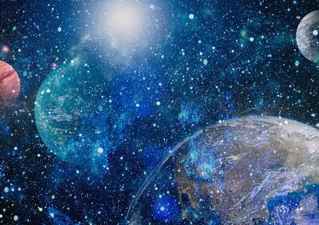 Starfield stardust and nebula space. Galaxy creative background.
