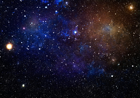 New large panoramic looking into deep space. Dark night sky full of stars. The nebula in outer space. Secrets of deep space.