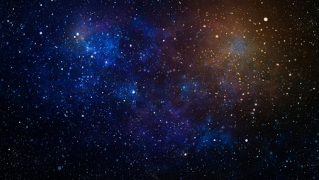 The center of milky way galaxy and space dust in the universe, Night starry sky with stars Stock Photo - 114449878
