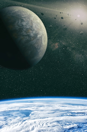 High quality space background. Stock Photo