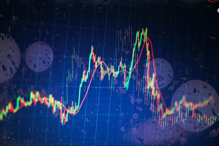 Abstract background with graph chart finance. Business concept