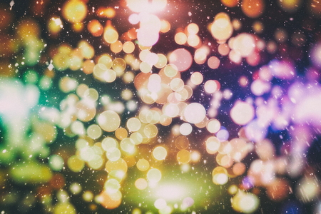 Bright light spots abstract bokeh blurred texture background 免版税图像