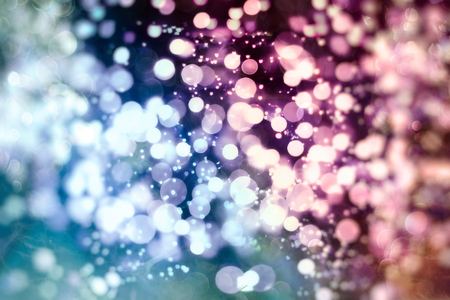 Christmas and New Year feast bokeh background with copyspace.