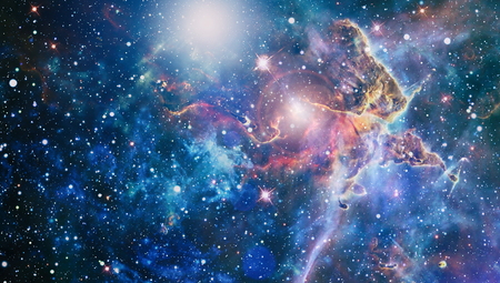 Stardust and nebula space. Galaxy creative background.