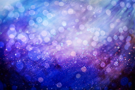 Abstract Festive background. Glitter vintage lights background with lights defocused. Christmas and New Year feast bokeh background with copyspace. Archivio Fotografico