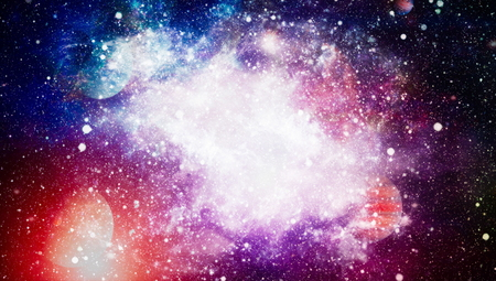 Nebula and galaxies in space.Planet and Galaxy