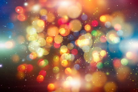 Festive elegant abstract background with bokeh lights and stars Texture Stock Photo
