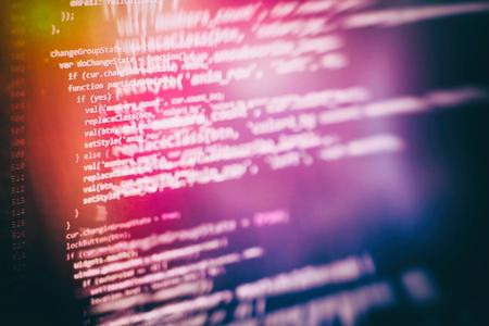 Programming source code HTML for Website development. Server logs analysis. Foto de archivo - 120664163