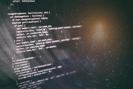 Programming source code HTML for Website development. Server logs analysis. Foto de archivo - 120664181