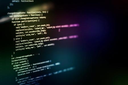 Programming source code HTML for Website development. Server logs analysis. Foto de archivo - 120664182