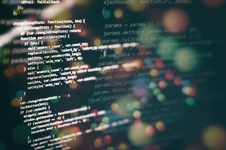 Programming source code HTML for Website development. Server logs analysis. Imagens - 120669426