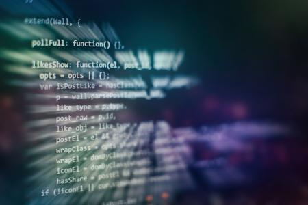 Software development. Internet security hacker prevention. SEO optimization. Modern tech.