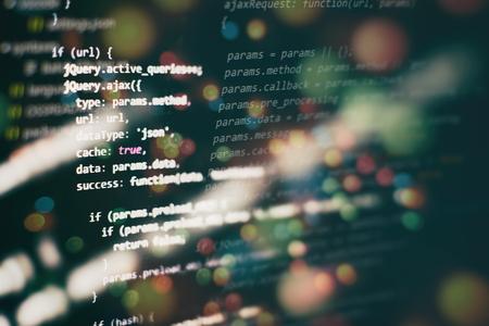 Software development. Internet security hacker prevention. SEO optimization. Modern tech. Imagens