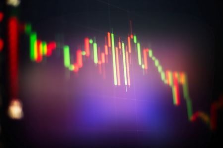 Abstract glowing forex chart interface wallpaper. Investment, trade, stock, finance and analysis concept. Standard-Bild
