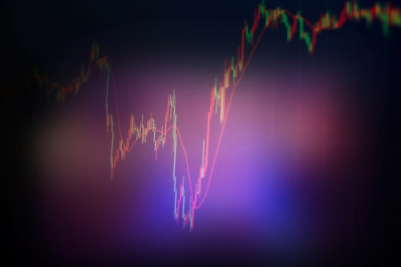 Business success and growth concept.Stock market business graph chart on digital screen.Forex market, Gold market and Crude oil market . Imagens