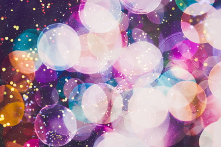 Blurred bokeh light background, Christmas and New Year holidays background Stockfoto