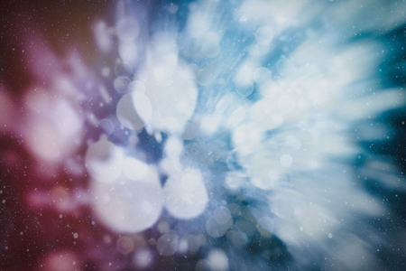 Blurred bokeh light background, Christmas and New Year holidays background Reklamní fotografie