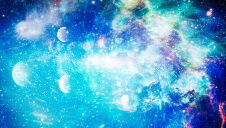 galaxy background with nebula, stardust and bright shining stars.