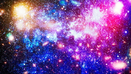 Bright Star Nebula. Distant galaxy. Abstract image. 写真素材
