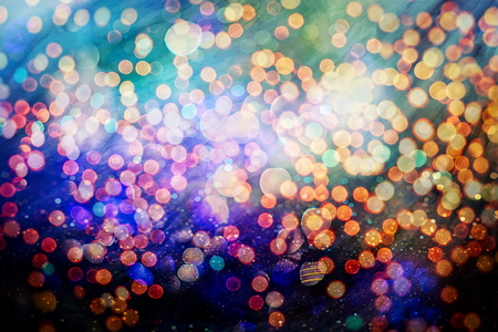 Blurred bokeh light background, Christmas and New Year holidays background 免版税图像